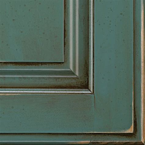 Turquoise Rust Cabinet Finish on Maple   Decora