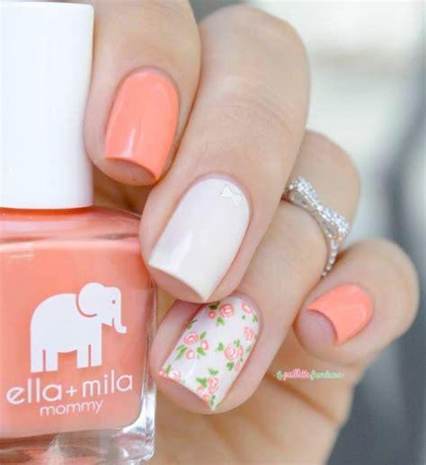 gel nail designs for middle aged women 35 nail art fleuris pour cet 233 t 233
