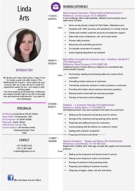 Curriculum Vitae Sle Format by Cv Styles Resume Styles Exles Writing Resume Sle