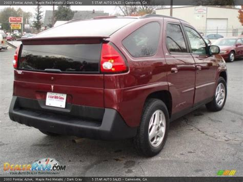 pontiac aztek red 2003 pontiac aztek maple red metallic dark gray photo 6