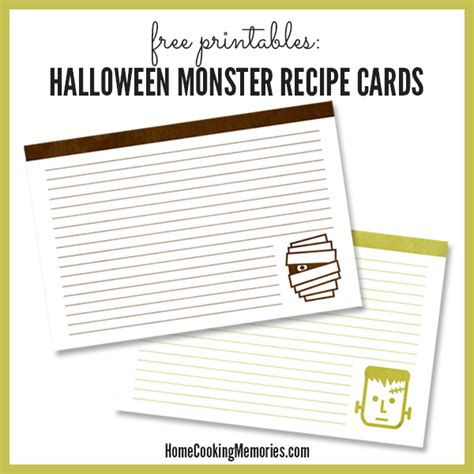 printable halloween recipes 25 free printable recipe cards home cooking memories