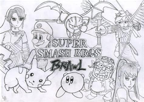 samus super smash bros coloring pages coloring home