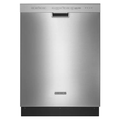 kitchenaid dishwasher kitchenaid 24 quot superba built in dishwasher stainless steel shop your way online shopping