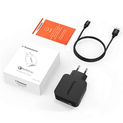 Exclusive Tronsmart 42w Charge 30 Usb Wall Charger Eu In tronsmart charge 3 0 usb rapid wall charger stand up charger