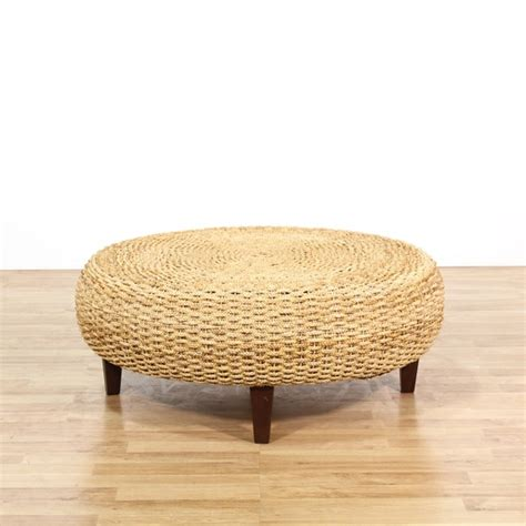 Woven Ottoman Coffee Table Large Rope Woven Ottoman Coffee Table Loveseat Vintage Furniture Los Angeles