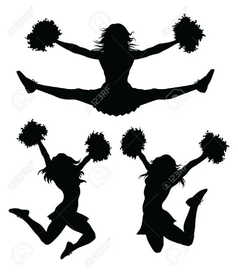 cheerleading clipart silhouette clip many interesting cliparts