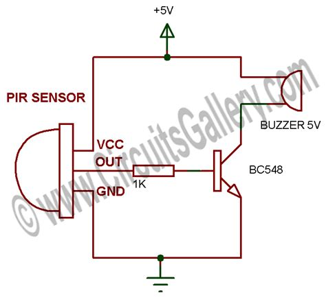active infrared motion sensor circuit diagram active