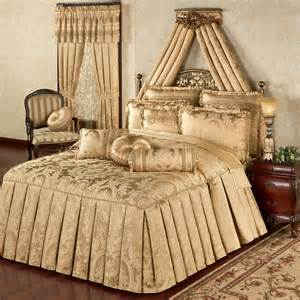 Gold Bedspread Corsica Tailored Oversized Gold Bedspread Bedding