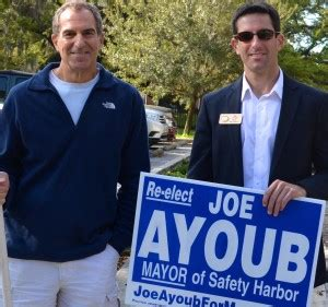 joe ayoub safety harbor andy steingold re elected mayor of safety harbor safety