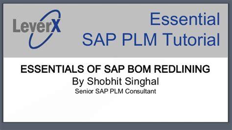 tutorial dms sap leverx sap plm tutorial bom redlining