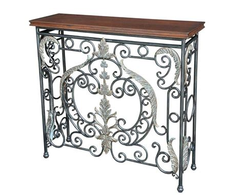 wrought iron table ls wrought iron sofa table with wood top home