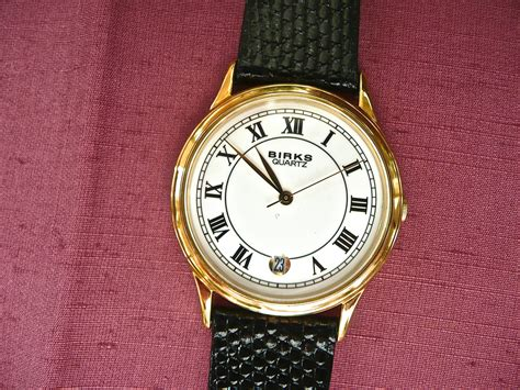 vintage wrist mens birks gold