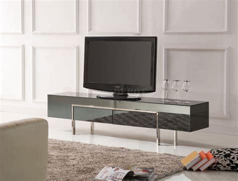 black high gloss laquer finish modern tv stand wmetal legs