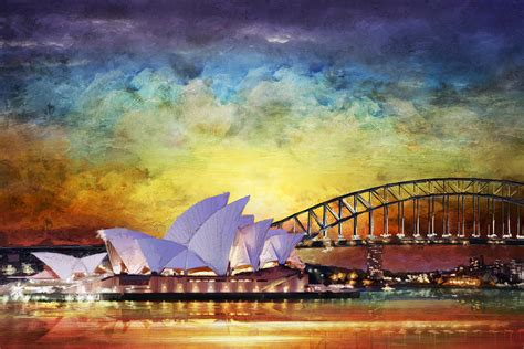 Wood House Plans by Sydney Opera House Painting By Catf