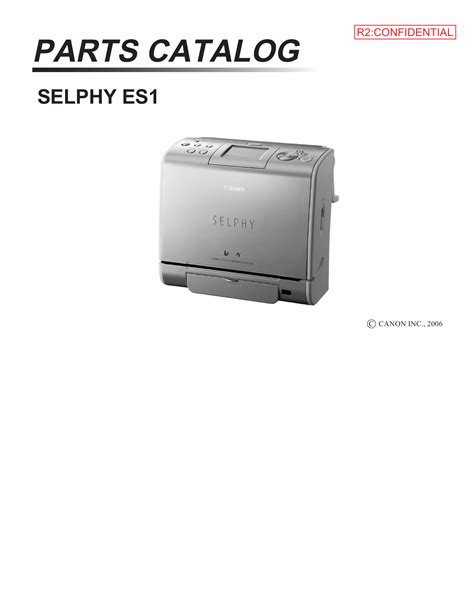 Printing Photos With Canon Selphy Es1 by Canon Selphy Es1 Parts Catalog Manual
