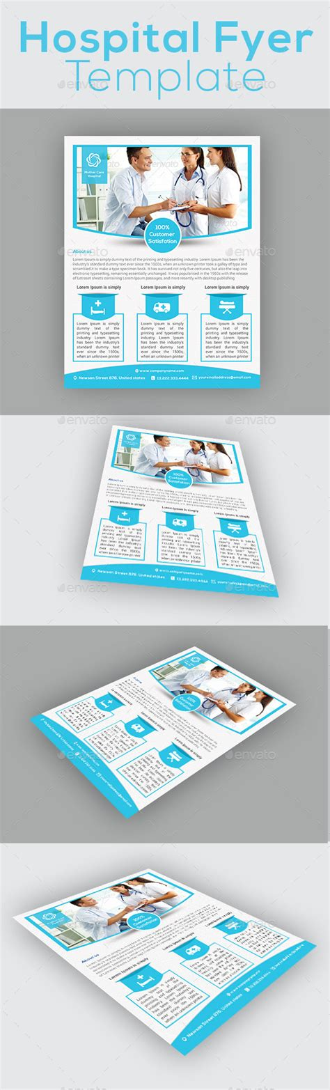hospital menu template hospital flyer template by graphicshint graphicriver