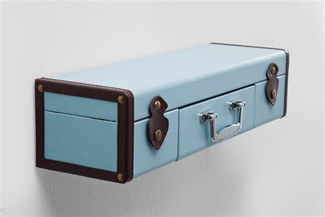 Suitcase Wall Shelf by Wall Shelf Suitcase Light Blue By Kare Design