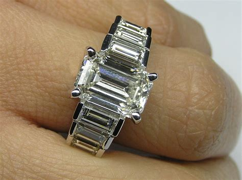 engagement ring emerald cut engagement ring step