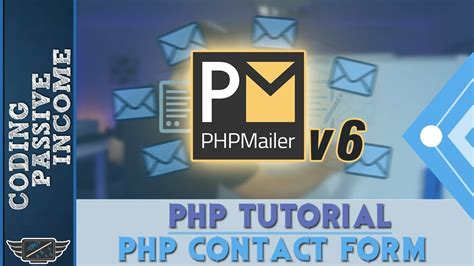 phpmailer tutorial php tutorial create contact form send an email with