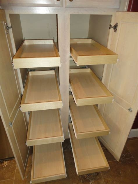 Kitchen Cabinet Sliding Racks by Best 25 Slide Out Shelves Ideas On Pinterest