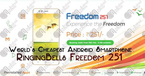 Smartphone Bell Freedom world s cheapest android smartphone ringing bell freedom