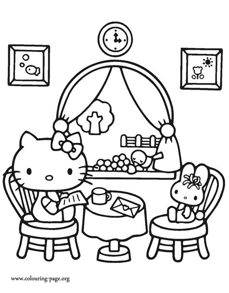 hello kitty themes for myphone rio fun hello kitty hello kitty at a restaurant coloring page