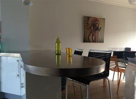 table cuisine sur mesure cuisine inox sur mesure 233 vier mobilier table cr 233 dence plan de travail
