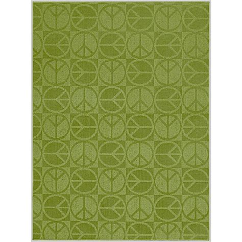 garland area rug garland rug large peace lime 5 ft x 7 ft area rug cl 17