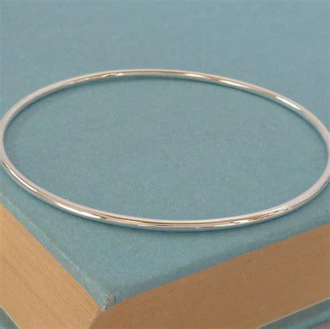 Handmade Silver Bangle - handmade plain silver bangle by handmade by helle