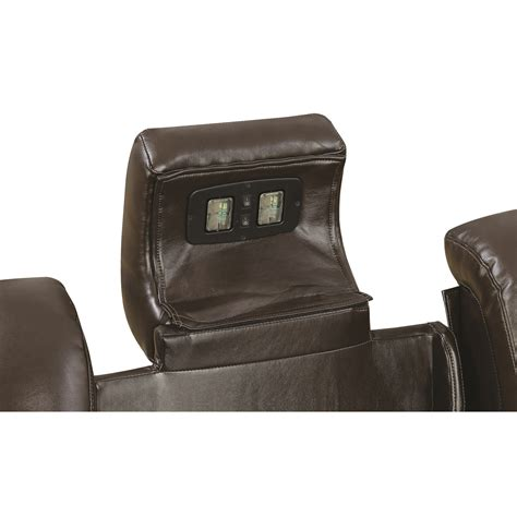 recliner with storage and usb coaster delangelo 602306p casual power recliner with cup