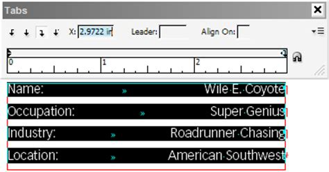 design tab meaning tab leaders part 1 separating columns of text with dots