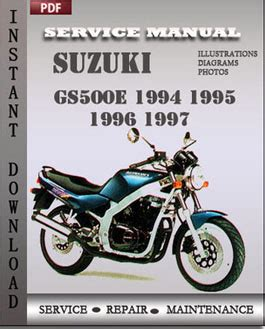 suzuki gs500e 1995 1996 service repair