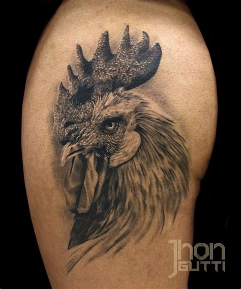 chicken tattoo rooster healed by jhon gutti tattoos