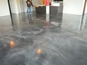 stained concrete floors grey a earth sheltered