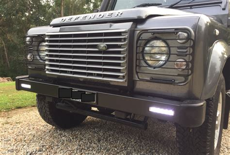land rover defender bumper lights land rover defender bumper with integrated led lights ebay