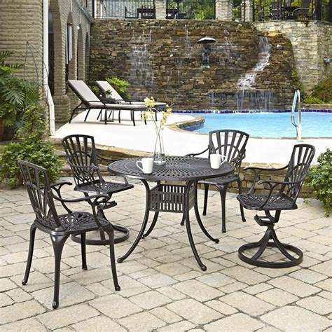 5 Patio Dining Set by 5 Patio Dining Set In Charcoal 5560 3058