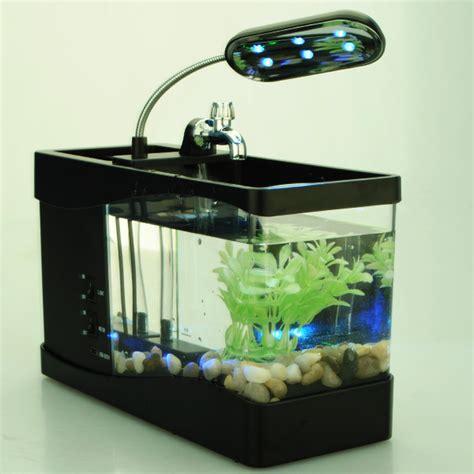 Lu Led Aquarium Mini mini usb lcd display desktop fish tank led clock table