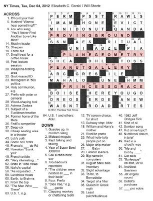 york times crossword  gothic  proving