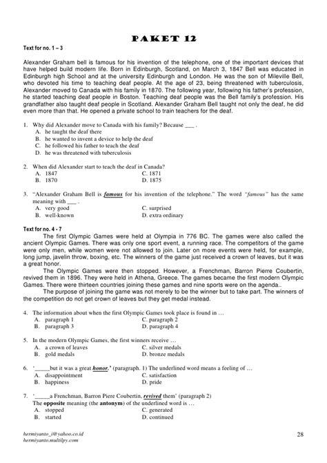 biography alexander graham bell dalam bahasa inggris modul un bahasa inggris jilid 2