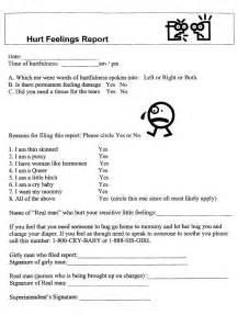 hurt feelings report template hurt feelings report needed stat the tizona