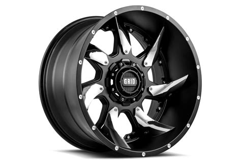 grid offroad gd matte black wheels