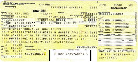 alaskaair baggage fee as 1999 04 24 alaska air ticket baggage receipt flickr