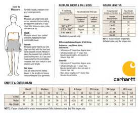 cabelas sizing charts carhartt men s