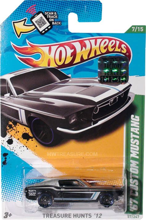 Wheels Hotwheels 67 Custom Mustang 67 custom mustang wheels 2012 treasure hunt