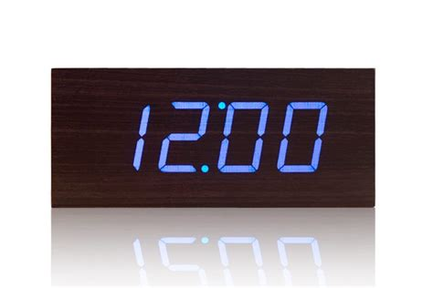 Digital Desk Clock by Digital Clock High Quality Digital Wooden Led Desk Clock