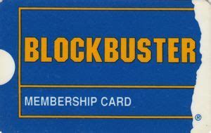 Blockbuster Gift Cards - functional card blockbuster membership card shops audio and video thailand