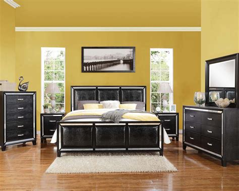 acme furniture bedroom sets black crocodile bedroom set elberte by acme furniture