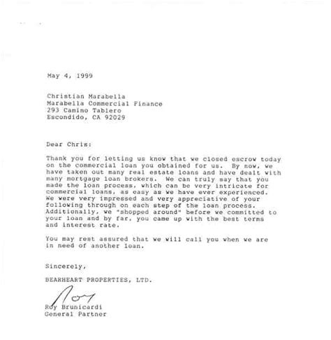 Letters Of Reference Marabella roy brunicardi bearheart properties llc letter of