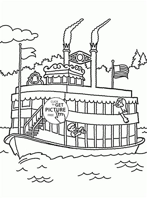 boat tags pleasure boat coloring page for kids transportation