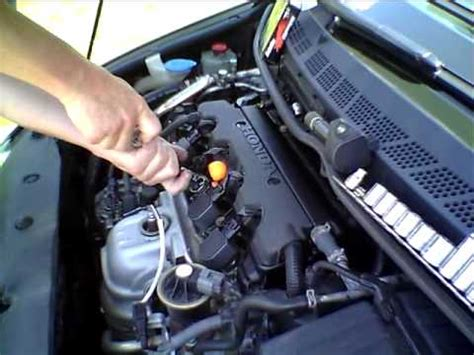 how to change the spark plugs in an 8th generation honda